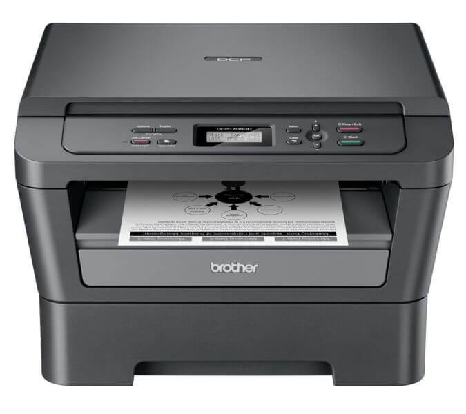 Brother DCP-7060D fekete-fehér multifunkciós lézer nyomtató csomag (nyomtató, induló tonerrel + 1 extra toner + USB kábel)