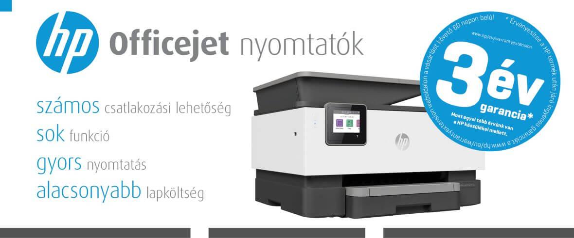 HP Officejet nyomtatók